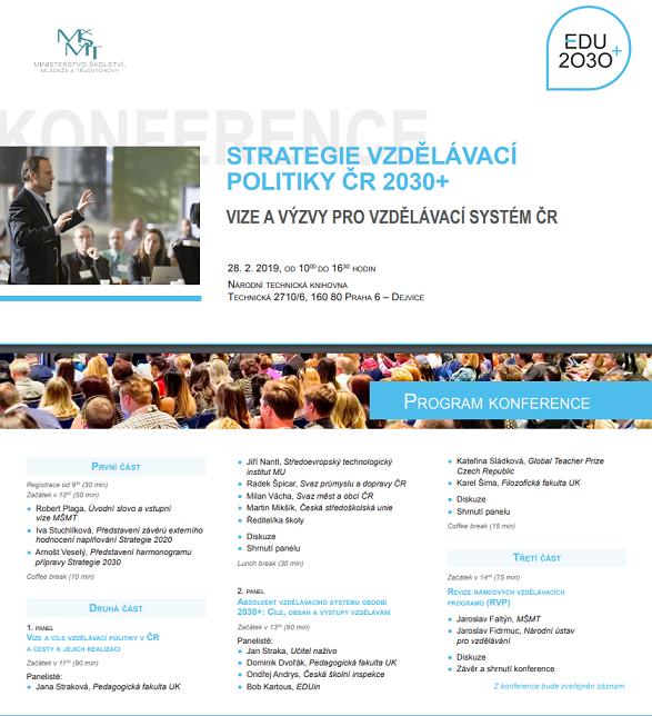 Pozvánka na konferenci MŠMT
