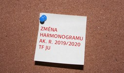 ZMĚNA HARMONOGRAMU AK. R. 2019/2020!