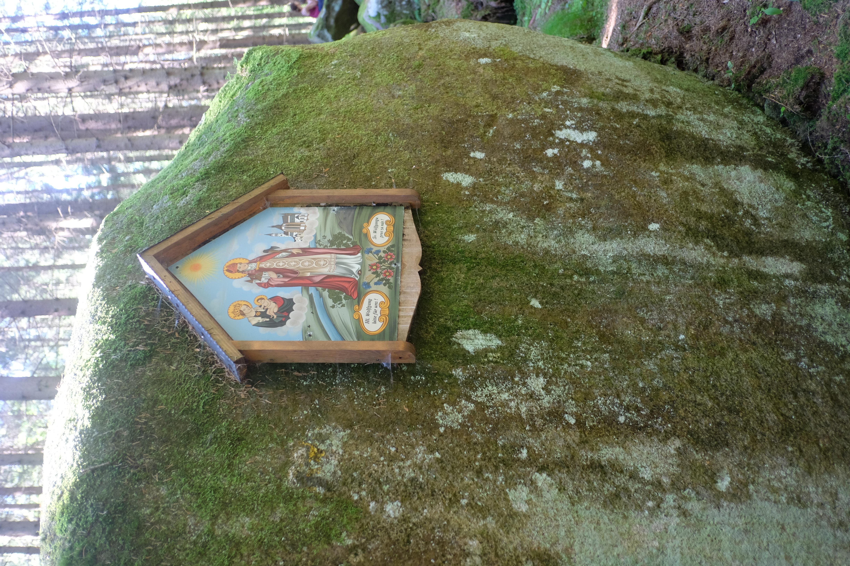 5. obrázek sv. Wolfganga u vodopádů na Menší Vltavici.JPG