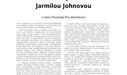 Beseda se signatářkou Charty 77 Jarmilou Johnovou