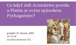 Co když měl Aristoteles pravdu a Platón je svým způsobem Pythagorejec?