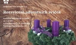 Rozsvícení adventních svíček